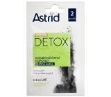 Astrid CityLife Detox hĺbkovo čistiaca zlupovacia pleťová maska pre normálnu až mastnú pleť 2 x 8 ml