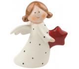 Anjel porcelánový s hviezdou 10 cm na postavenie