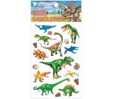 Samolepky plastické Dinosaury 10,5 x 19 cm