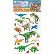 Room Decor Samolepky plastickej Dinosaury 10,5 x 19 cm