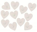 Srdce drevené s Lepik biele 3 cm, 12 kusov