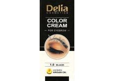 Delia Color Cream farbiace krém na obočie s arganovým olejom 1.0 Black 15 ml + 15 ml