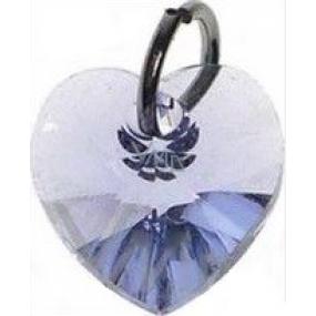 Swarovski Elements prívesok srdce svetlo fialový 10 mm 1 kus