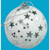 Banka biela s hviezdičkami 6 cm