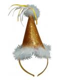 Klobúčik s labutienkou zlatý, čelenka