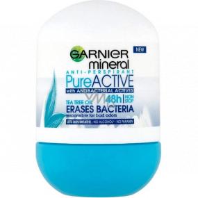 Garnier Mineral Pure Active Antibacterial 48h guličkový antiperspirant dezodorant roll-on pre ženy 50 ml