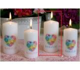 Lima s venovaním Babičce sviečka s obtiskom valec 60 x 120 mm 1 kus