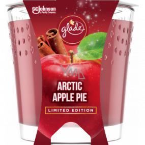 Glade Arctic Apple Pie s vôňou jablka, škorice a muškátového orieška vonná sviečka v skle, doba horenia až 32 hodín 129 g