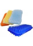 Masážne žinka plastová rôzne farby 18 x 13 cm 1 kus