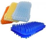Masážní žínka plastová různé barvy 18 x 13 cm 1 kus