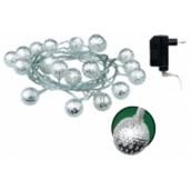 Emos Osvětlení kouličky kovový efekt řetěz 3 m - 20 LED bílá + 3 m přívodní kabel