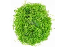 Tráva dekorační dřevěná zelená 50 g