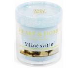 Heart & Home hmlovej svitania Sójová vonná sviečka bez obalu horí až 15 hodín 53 g