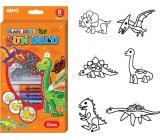 Amos Sada barviček na sklo Dinosauři 6 barev x 10,5 ml