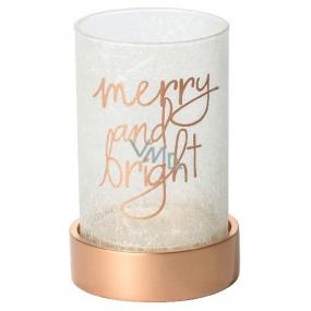 Yankee Candle Magical Christmas svícen na střední nebo velkou svíčku Classic sklo 21 x 15 cm