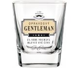 Nekupto Liga Pravých Gentlemanů Whisky sklenička Opravdový Gentleman za sebe nechá mluvit své činy 7 x 7 x 9 cm