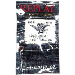 Replay Jeans Original for Her toaletná voda pre mužov 1,2 ml, vialky