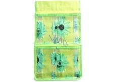 Kapsář na zavěšení zelený 43 x 24 cm 4 kapsy