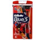 Gillette Blue 3 Special Edition holítka 3 břity pro muže 6 kusů červené