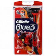 Gillette Blue 3 Special Edition holítka červené 3 brity pre mužov 6 kusov