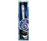 Nekupto Twister Lžička se jménem Petr modrá 16 cm 1 kus