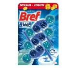 Bref Blue Aktiv Eucalyptus WC blok pro hygienickou čistotu a svěžest Vaší toalety, obarvuje vodu do modrého odstínu 3 x 50 g