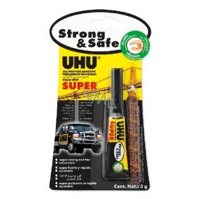 Uhu Alleskleber Super Strong & Safe univerzálne lepidlo pre rýchle opravy 3 g