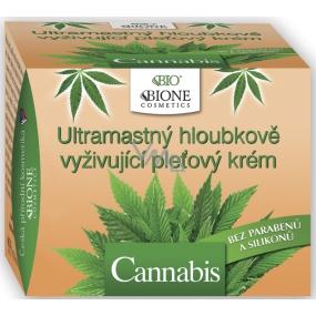 Bion Cosmetics Cannabis ultramastný hĺbkovo vyživujúci pleťový krém pre suchú a unavenú pleť 51 ml