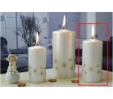 Lima Starlight sviečka biela / zlatá valec 60 x 120 mm 1 kus