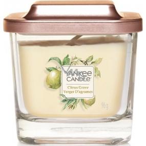 Yankee Candle Citrus Grove - Citrusový háj sójová vonná sviečka Elevation malá sklo 1 knôt 96 g