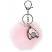 Dinky Bear kľúčenka Pom Pom ružová
