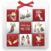 Nekupto Čokoládové puzzle vianočné, Dámske 9 x 5 g, 11 x 11,5 x 0,7 cm