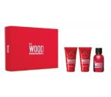 Dsquared2 Red Wood toaletná voda 50 ml + telové mlieko 50 ml + sprchový gél 50 ml, darčeková sada