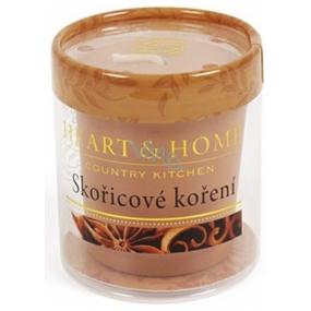 Heart & Home Škoricové korenie Sójová vonná sviečka bez obalu horí až 15 hodín 53 g