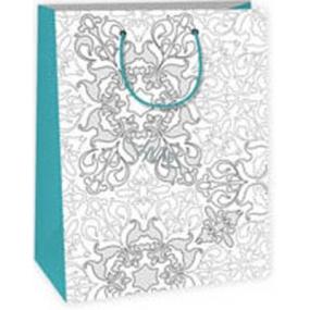 Ditipo Darčeková papierová taška k vymaľovanie 22 x 10 x 29 cmbílá strieborný motív Kreativ 40