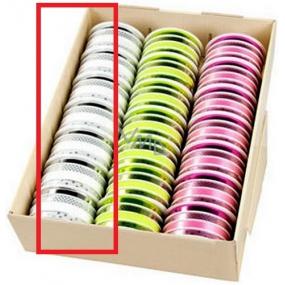 Ditipo Stuha multi trendy colours bielostrieborná 16 mx 10 mm