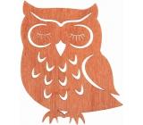 Drevená sova závesná 12 cm, oranžová 3815 5969