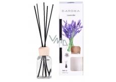 D-aroma- Lavender - Levanduľa aróma difuzér s tyčinkami pre postupné uvoľňovanie vône 100 ml