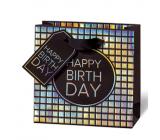 BSB Luxusná darčeková papierová taška 145 x 15 x 6 cm Všetko najlepšie k narodeninám LDT 415 - CD