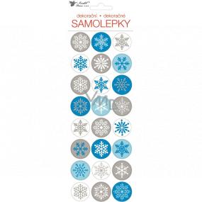 Samolepky vianočné vločky 10 x 31 cm 1 arch
