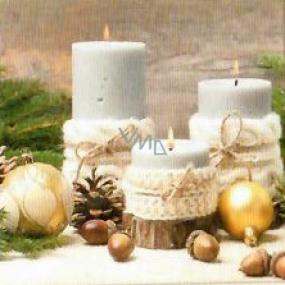 Nekupto Papierové obrúsky 3 vrstvové 33 x 33 cm 20 kusov sviečky