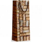 Nekupto Darčeková papierová taška na fľašu 10 x 33 x 9 cm Korok 1896 01 KFLH