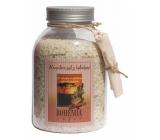 Bohemia Gifts & Cosmetics Škorica a Agát s afrodiziakálne vôňou soľ do kúpeľa 1,2 kg