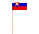 Arch Papierová vlajka slovenský republiky na drievku 42 cm 1 kus
