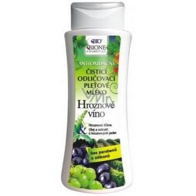 Bione Cosmetics Hroznové víno čisticí odličovací pleťové mléko 255 ml