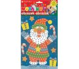 Mozaikový hrací set Vianoce Santa v topánkach 23 x 16 cm
