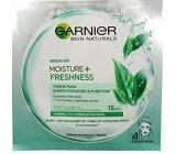 Garnier Moisture + Freshness superhydratační čistící textilní pleťová maska 15 minutová 32 g