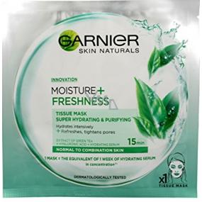 Garnier Moisture + Freshness superhydratační čistiaca textilné pleťová maska 15 minútová 32 g