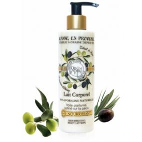 Jeanne en Provence Divine Olive telové mlieko dávkovač 250 ml