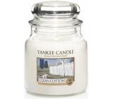 Yankee Candle Clean Cotton - Čistá bavlna vonná svíčka Classic střední sklo 411 g